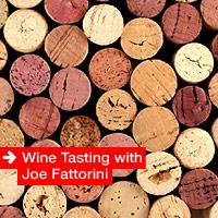 Wine tasting with Joe Fattorini